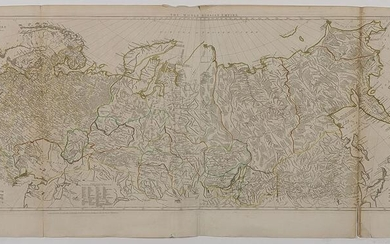A 1772 D'ANVILLE MAP OF THE WHOLE RUSSIAN EMPIRE