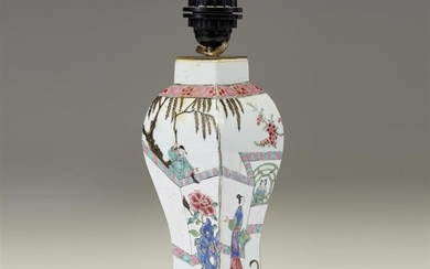 A Chinese famille rose-decorated baluster vase Yongzheng period Undrilled,...