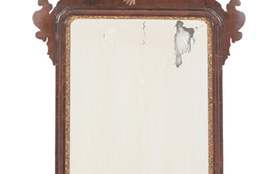 A Chippendale Parcel Gilt Mahogany Mirror