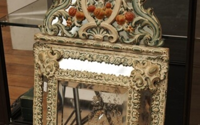A FRENCH REPOUSSE MIRROR, 59 CM HIGH, LEONARD JOEL LOCAL DELIVERY SIZE: SMALL