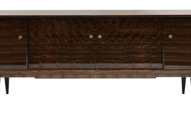A French lacquered Macassar ebony sideboard