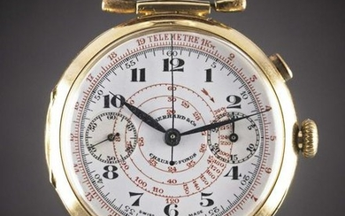 A GENTLEMAN'S LARGE SIZE 18K SOLID GOLD EBERHARD & CO