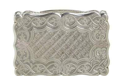 A GOOD VICTORIAN STERLING SILVER SNUFF BOX