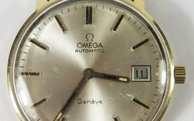 A Gent's Omega Automatic 14K Gold Wristwatch, 34mm case, mov...