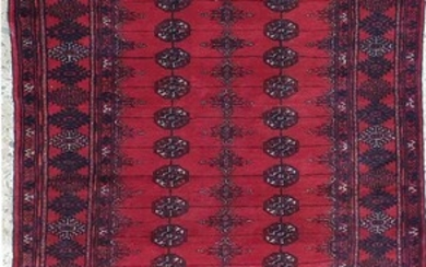 A HAND KNOTTED PURE WOOL PERSIAN BUKHARA