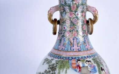 A LARGE EARLY 20TH CENTURY CHINESE FAMILLE ROSE TWIN
