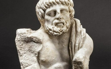 A fragment of a Roman marble figure, 2nd – 3rd