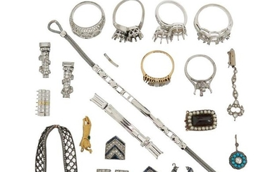 A mixed group of jewellery including a pair...