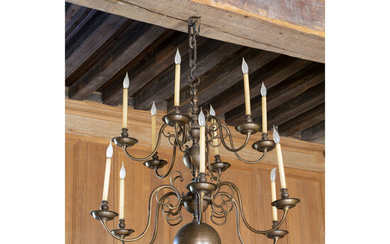 A pair of baroque style twelve light chandelier, Style of the XVIIth century H 123 x W 122 cm