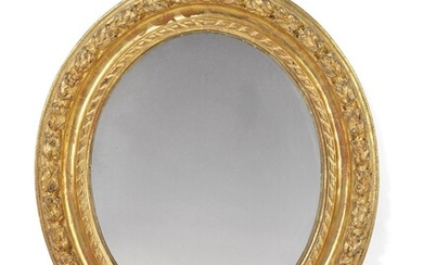 AN ITALIAN GILTWOOD OVAL PICTURE FRAME MIRROR, 18TH/19TH CENTURY