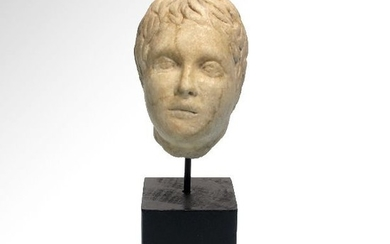 Ancient Roman Marble Head of a Youth