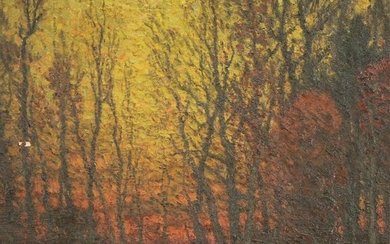 Attr. John Joseph Enneking, Autumn Sunset, O/C