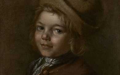 Attributed to Jean-Martial Fredou, French 1711-1795- Portrait of a young...