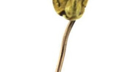 C.1930 GOLD NUGGET 14K YELLOW GOLD STICK PIN