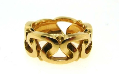 CHIC Marina B. 18k Yellow Gold Woven Band