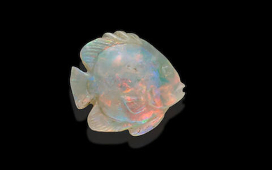 Carved Opal Fish