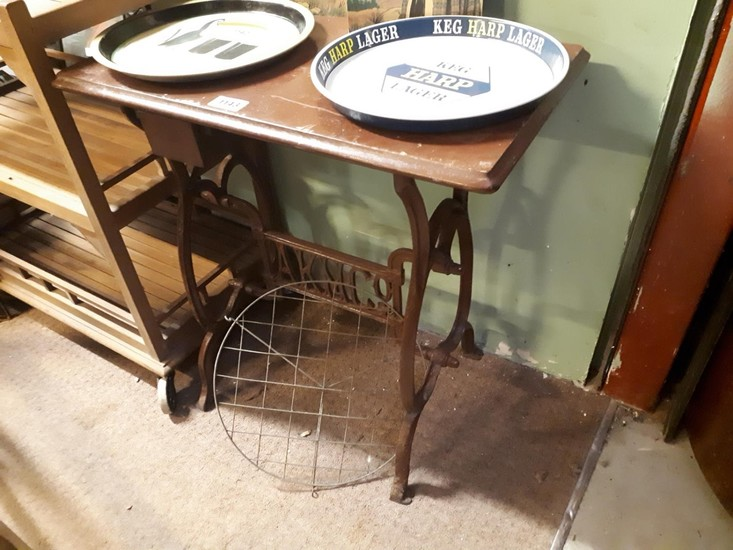 Cast Iron Sewing Machine Table