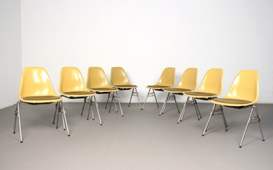 Charles & Ray Eames, set of chairs, model DSS by Herman Miller/ Vitra (8)