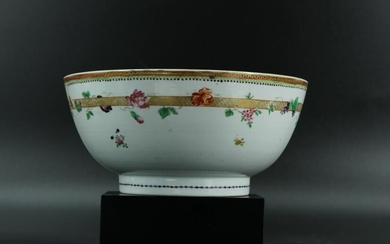 Chinese Export Hand Painted Porcelain Bowl
