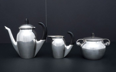 Coffee service (3) - .950 silver - France - Early 20th century