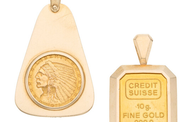Credit Suisse, U.S. $2-1/2 Indian Head Gold Coin, Gold...