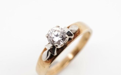 Cubic zirconia and 9ct yellow gold ring marked 9ct. Approx w...