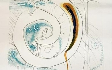 DALI PENCIL SIGNED VISCERAL CYCLE OF COSMOS LITHO