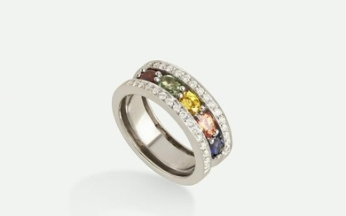 Diamond and gem-set ring