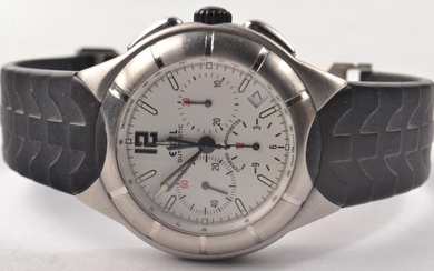 EBEL chronograph automatic E-type with white face and 3 dial...