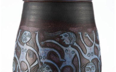Edwin and Mary Scheier (20th century), Covered Vessel (1990)