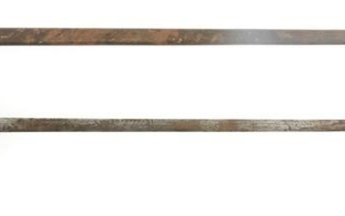 FRENCH RAPIER SWORD BRASS CUP HILT WITH SCABBARD