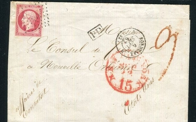 France 1862 - Rare letter from Bordeaux addressed to the French consulate in New Orleans