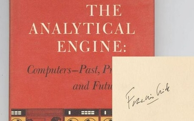 "Francis Crick Signed ""The Analytical Engine"""