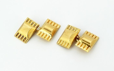 French - 18 kt. Yellow gold - Cufflinks