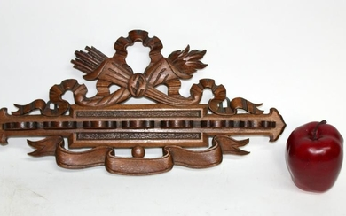 French Louis XVI carved walnut pipe holder