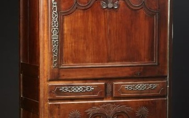 French Provincial Carved Cherry Homme Debout, early