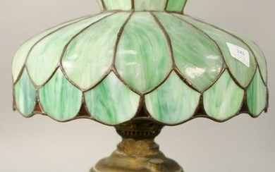 Hampshire Arts and Crafts Table Lamp, having green