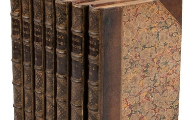 Handsome set of Cook's Three Voyages, 7 volumes, 1821