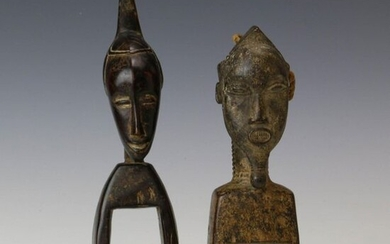 Ivory Coast, Baule, wooden pulley and Yaure, h....