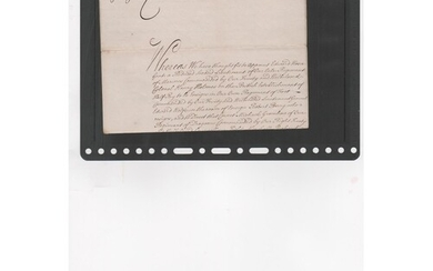 King George II / Marines. 1749 (Mar 6) Document given at the...