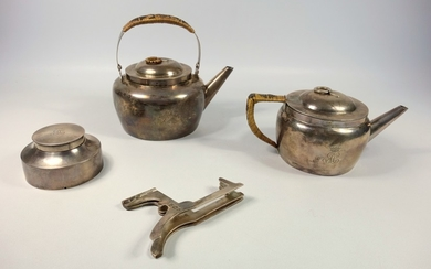 LATE VICTORIAN ARTS & CRAFTS SILVER BACHELOR'S TRAVELLING SE...