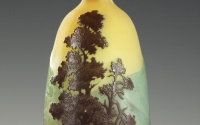 """Landscape"" Bottle, by Gallé"
