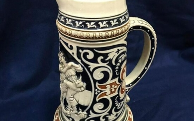 Large German Pottery Beer Stein
