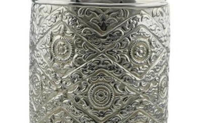 Large Sterling Silver Cammuso Vase