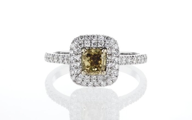 Lilo Diamonds - GIA Certificate - 14 kt. White gold - Ring - 0.68 ct Diamond - Diamond, 0.46 D-F/VS