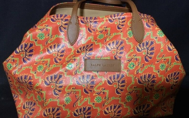 Luxe Ralph Lauren Orange Canvas Tote Bag