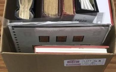 MINT AND USED COLLECTIONS: Carton housing several stock book...