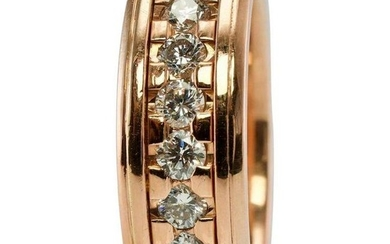 Novell 1.84ct Diamond Eternity Band Ring 14K Rose Gold