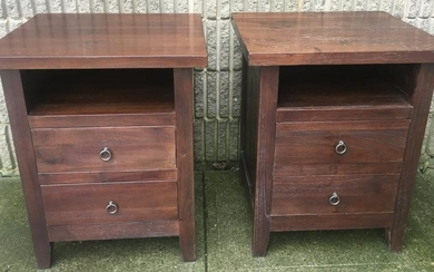 Pair Contemporary Style Night Stands