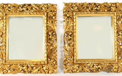 Pair Continental Gilt Wood Mirrors